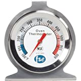 """Thermometer, Oven, 2"""" Dial, 304 stainless steel, -100 to 600F, NSF"""