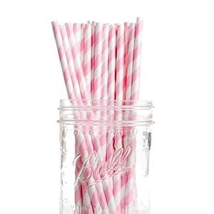 Candy Stripe Cake Pop Sticks - Pink