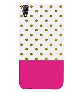 EPICCASE Polka dots pattern Mobile Back Case Cover For HTC Desire 828 (Designer Case)