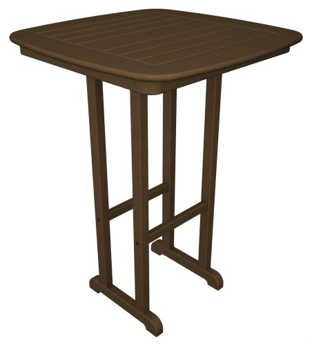 "Polywood Nautical 31"" Bar Height Table in Teak"