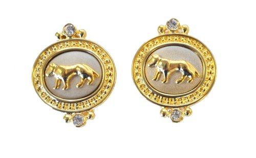 Gorgeous Jaguar Clip-On Earrings