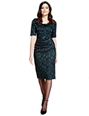 Per Una Jacquard Lace Shift Dress