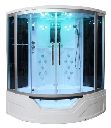 Eagle-Bath-WS-703-110v-ETL-Certified-Steam-Shower-Enclosure-3KW-generator-with-Whirlpool-Tub-Computer-Control-Panel-Handheld-Showerheads-and-Storage