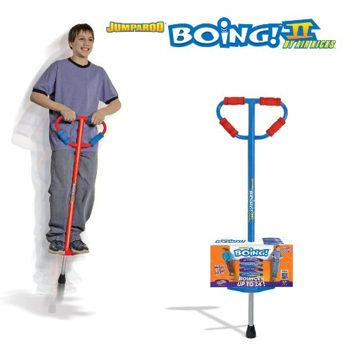 GeoSpace Large Jumparoo Boing! II Pogo Stick by Air Kicks for Riders 86 to 160 Lbs.Assorted Color(Blue or Red) at Sears.com