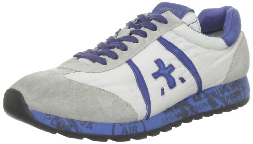 White Premiata Men's Lucy Lace-Up Flats