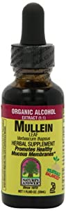 Nature's Answer Mullein Leaf with Organic Alcohol, 1-Fluid Ounce