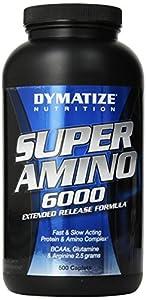 Dymatize Nutrition Super Amino 6000 Supplements, 500 Count