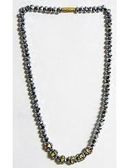 Grey Crystal Bead Necklace - Crystal