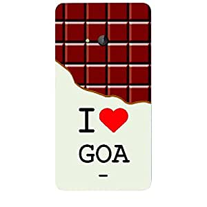 Skin4gadgets I love Goa - Chocolate Pattern Phone Skin for LUMIA 540
