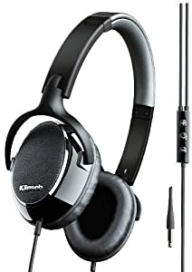Klipsch Image ONE Premium Stereo Headphones with Mic and 3-Button Apple Control (Black/Chrome)