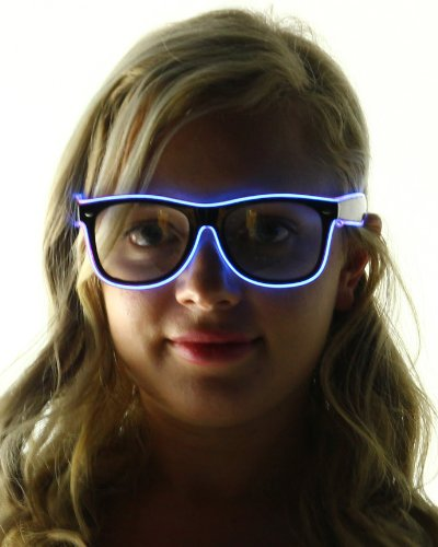 Light Up El Wire Sunglasses (Purple)