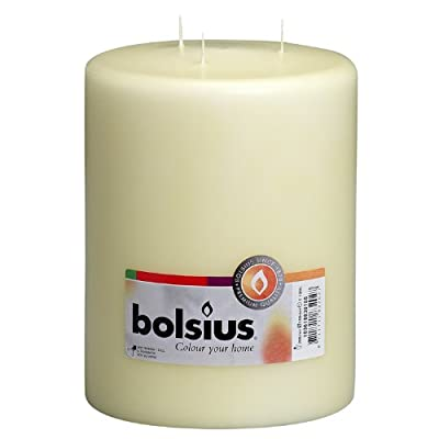 Bolsius Ivory Mammoth 3 Wick Pillar Candle 200x150mm 100 Hours burn time