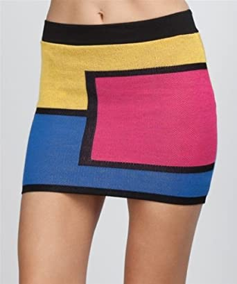 G2 Chic Colorful Colorblock Mini Skirt(BTM-SKT,MUL-S)