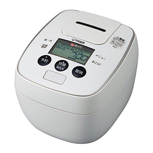 TIGER 圧力IH炊飯ジャー(炊きたて) (5.5合炊き) ホワイト JPB-B100W