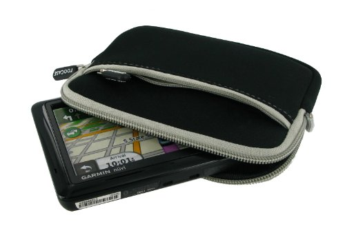 Roocase Neoprene Sleeve Case For 5-Inch Garmin Nuvi Gps Navigator (Black)