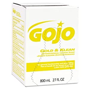 Gojo 9102-12 Enriched Lotion Soap, 800 mL Refill, Gold (Pack of 12)