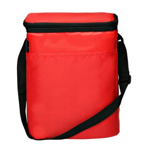 Deluxe Insulated Lunch Cooler Bag, Red by BAGS FOR LESSTM - 1