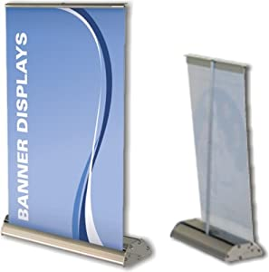 Deluxe table top counter top mini retractable banner stand for Table bar retractable