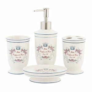 Eur 31 90 eur 18 00 livraison en stock vendu for Accessoires de salle de bain shabby chic