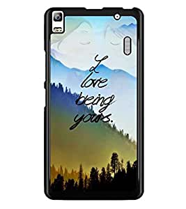 PrintDhaba Quote D-4897 Back Case Cover for LENOVO A7000 PLUS (Multi-Coloured)