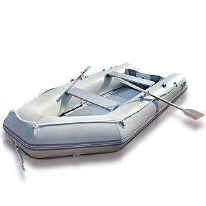 Schlauchboot 320x151cm, Motorboot mit Alu Boden 536kg, bis max 11kw/15PS, Set inkl. 2 Alupaddel, Tragetasche, Fußluftpumpe und Reparaturset