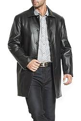 "BGSD Men's ""Peter"" Three-Quarter Length Leather Coat"
