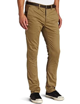 J.C. Rags Men's Stretch Twill Chinos Pant, Card Board, 30x32