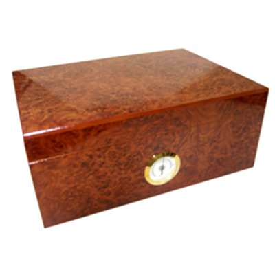 Burl Humidor Front Dial and Hygrometer (40 Size)