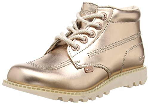 Kickers Kick Hi C Leather Female, Metallic - Stivaletti donna, colore Oro (Gold (Metallic)), taglia 38 EU (5 UK)