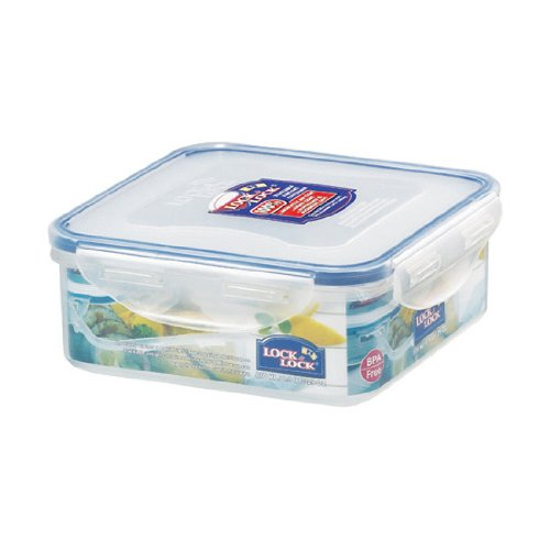 Lock&Lock 29-Fluid Ounce Square Food Container, Short, 3.6-Cup