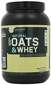 Optimum Nutrition 100% Natural Oats and Whey, Vanilla Bean, 3 Pound