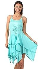Sakkas Seraphina Corset Style Jacquard Bodice Short Dress