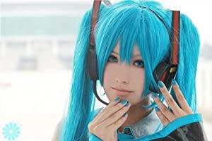 VOCALOID 2 Miku Hatsune Cosplay costume Headphone