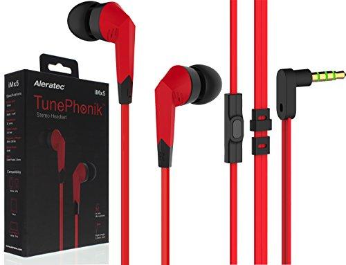 Audífonos TunePhonik iMX5 con micrófono incorporado, rojo, negro