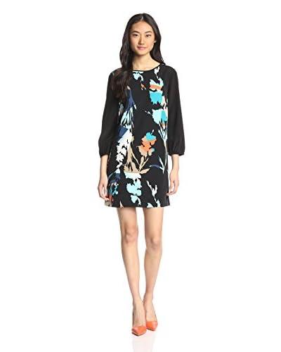 4.collective Women's Colorblock Floral Shift Dress