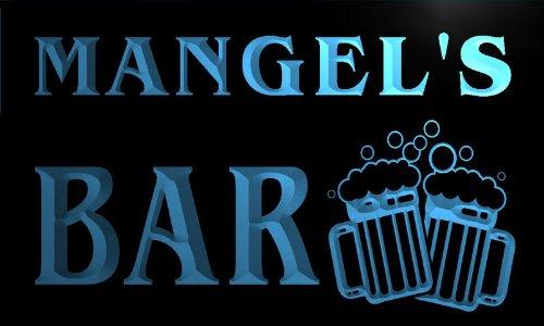 W032965-B Mangel'S Name Home Bar Pub Beer Mugs Cheers Neon Light Sign