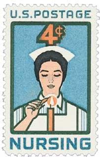 #1190 - 1961 4c Nursing U. S. Postage Stamp Plate Block (4)