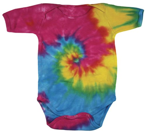 Buy Cool Shirts Tie Dye Swirl Spiral Rainbow Infant Romper Creeper 18 Mths