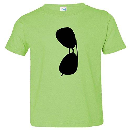 Inktastic Little Boys' Black Aviator'S Sunglasses Toddler T-Shirt 2T Key Lime