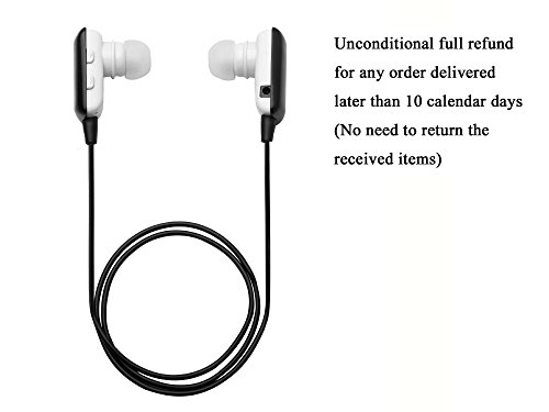 Glcon® Mini Black Wireless Stereo Bluetooth Bt Headset Headphone Earphone Earpiece Earbud With Microphone Mic, A2Dp, Noise Cancellation, Music Remote Control, Great Compatible With Apple Iphone 5/5S/5C, Iphone 4/4S, Ipad 1/2/3, New Ipad, Ipod And Samsung