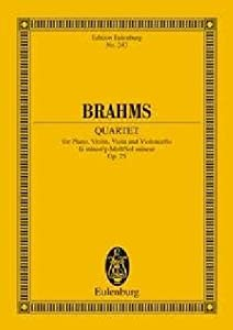 Piano Quartet In G Minor Op 25 Miniature Score from Edition Eulenburg