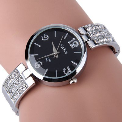 Elegant Women Ladies Alloy Bangle Quartz Watch