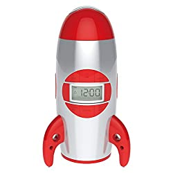 Big Red Rooster BRRC100 Rocket Ship Projection Alarm Clock, Operates On 3 C Batteries (Not Included)