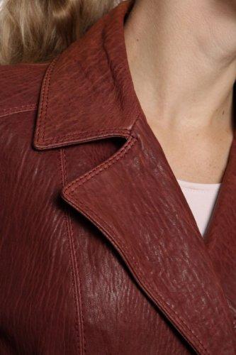 Kejo Leather Jacket PILAR, Color: Burgundy, Size: 36