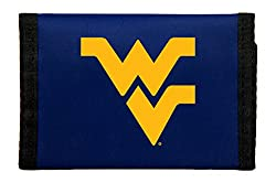 West Virginia Mountaineers Nylon Trifold Wallet