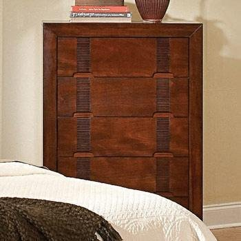 Storage Chest with Bamboo Like Design in Cherry Finish