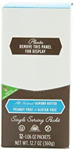 Barney Butter Almond Butter Single Serve Packs,1.06 Ounce, 12-Count (Pack of 2)