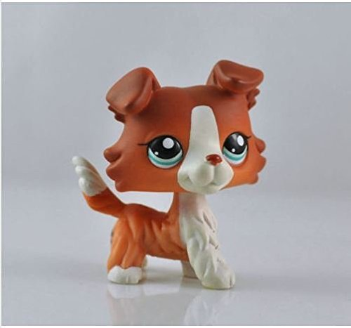 Great gifts store littlest pet shop Pet Collie Dog Child Girl Figure Cute Toy Loose