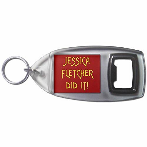 Jessica Fletcher Did It - Bottiglia di plastica Opener portachiavi