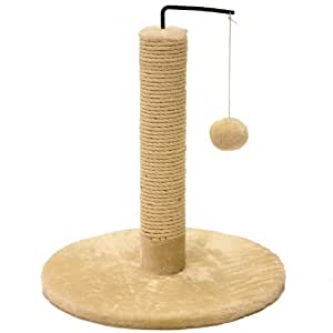 Mool Deluxe Swing Ball Cat Scratching Tree/ Post, 43 cm, Cream